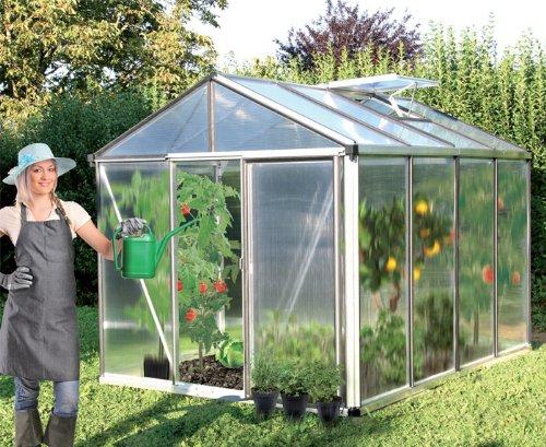 Gartenpro Profigewächshaus Typ 22 ET 8 mm Model mit Einfachschiebetür