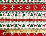 Oddies Textile Rose & Hubble P854 Weihnachtsbäume, Rentier
