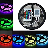 EverBright Super Brightness RGB 5M(16.4Ft) 5050 SMD 300LED Waterproof Flexible Light Strip PCB White For Car truck Neon Undercar Lighting Kits Mall booth House decoration Stage music Coloreful lights