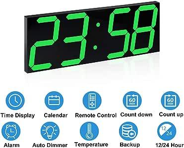 Sveglia Digitale A LED Di Grandi Dimensioni,Telecomando Per