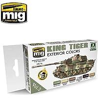 Ammo MIG-7166 King Tiger Peinture acrylique pour extérieur (édition spéciale Takom) Vol.2 Multicolore