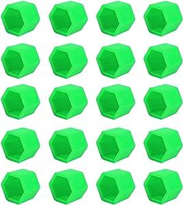 Larcele Silikon Radschraubenkappen Deckel Rad Lug Mutter Abdeckungen 20 Stücke Lsbht 02 Leuchtend Grün 19mm Mehrweg Auto