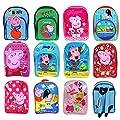 Peppa Pig Character Girls Boys Unisex Kids Children's Rucksack Travel Bag Backpack School Bag Sports Bag Range