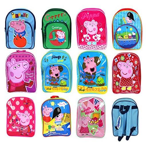 Peppa-Pig-Backpack-Love-Heart-Childrens-Rucksack-Junior-School-Bag-Pink-Blue