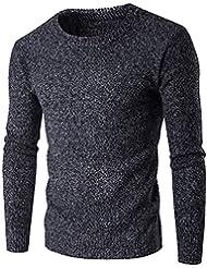 Glestore Pull Homme Uni Beaucoups de Forme Fashion Slim Fit Tailles:XS-L Couleur: Gris Noir Blanc Rouge vin Marine