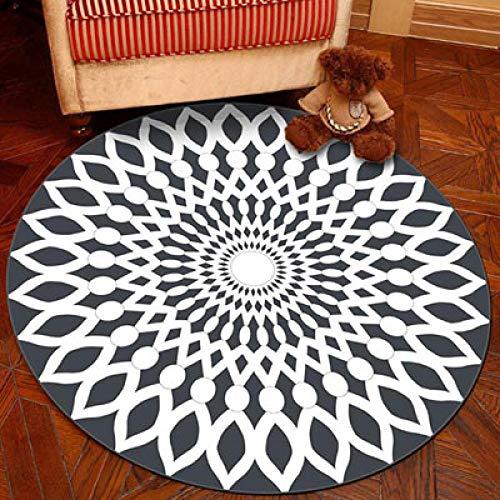 FeiXing158 Cartoon Runde rutschfeste Küche Teppich Badematten Eingang Fußmatte Flur Teppiche Tatami Matten Kinder Spielen - Glauben Kinder Teppich