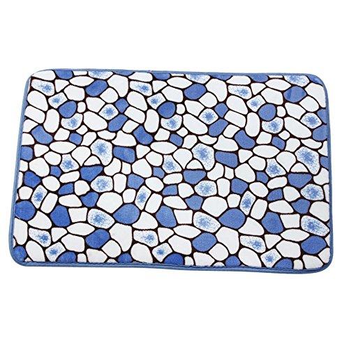 Alfombra - TOOGOO(R)Memory Foam Mat Alfombras de bano ducha antideslizante Piso Moqueta (Azul)