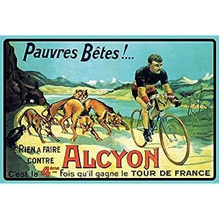 Schatzmix Alcyon fahrrad rennen Tour de France blechschild