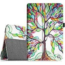 Samsung Tab E 9.6 Folio Funda – Fintie Cuero Vegano Case Funda Carcasa con Stand Función para Samsung Galaxy Tab E 9.6 Tablet SM-T560 SM-T561 WIFI Edición(Love Tree)