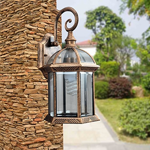 outdoor-black-wall-lantern-light-with-cathedral-lead-glass