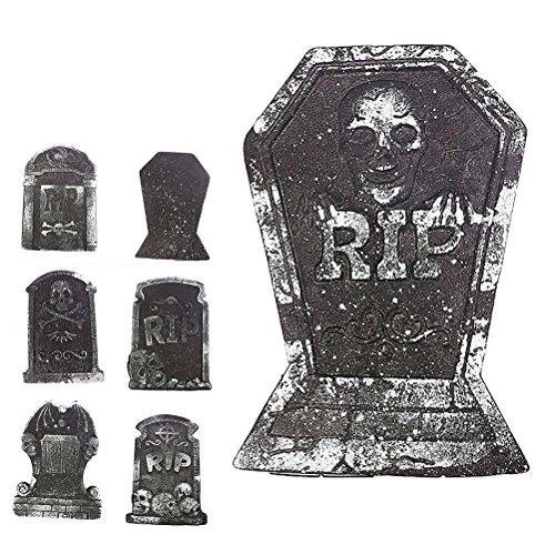 Tinksky Halloween Schaum Grabstein Skelett Grabstein Haunted Haus RIP Stein Grisly Requisiten Party Dekor Yard Dekoration (zufällige Stil)