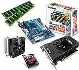 One PC Aufrüstkit | AMD FX-Series Bulldozer FX-8350, 8x 4.00GHz | montiertes Aufrüstset | Mainboard: Gigabyte GA-78LMT-USB3 | 16 GB RAM (2 x 8192 MB DDR3 Speicher 1600 MHz) | CPU Mainboard Bundle | Grafik: 2 GB NVIDIA GeForce GTX 1050 (HDMI, DVI, DP) | komplett fertig montiert!
