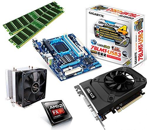 One PC Aufrüstkit | AMD FX-Series Bulldozer FX-8350, 8x 4.00GHz | montiertes Aufrüstset | Mainboard: Gigabyte GA-78LMT-USB3 | 16 GB RAM (2 x 8192 MB DDR3 Speicher 1600 MHz) | - Grafikkarte Gtx650