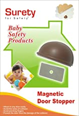 Surety For Safety Magnetic Door Stopper - Brown