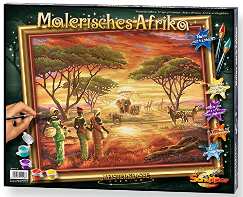 Noris Spiele Schipper 609130426 - Malen nach Zahlen - Malerisches Afrika, 40x50 cm