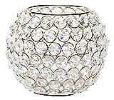 Torre & Tagus Lux Glas Kristall Kugel Teelichthalter, 10,2cm