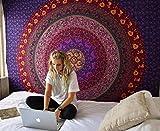 Indische Tapisserie Boho-Wandteppich Wandbehänge Mandala Wandteppiche als Dekotuch /Tagesdecke/Strandtuch/ Tischdecken indisch orientalisch psychedelic 150x200cm