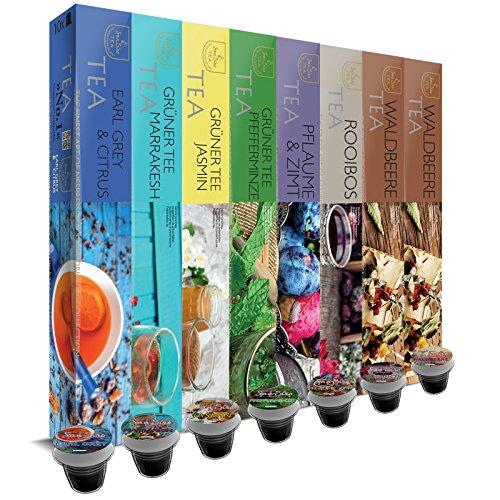 Offerta speciale: 80 capsule SanSiro Tè Selection Box No. 1: Capsule di tè compatibili Nespresso - 8x10 capsule