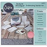 Sizzix 660950Textur Boutique Embossing Maschine, Weiß und Grau Starter-Kit White & Gray