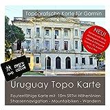 Uruguay Garmin tarjeta Topo 4GB MicroSD. Mapa Topográfico de GPS Tiempo Libre para Bicicleta Senderismo Excursiones Senderismo Geocaching & Outdoor. Dispositivos de Navegación, PC & Mac