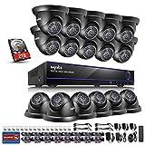 SANNCE 16-Channel 1080N/ 720P Surveillance DVR w/ 2TB HDD+ 16* 1.0MP Day Night