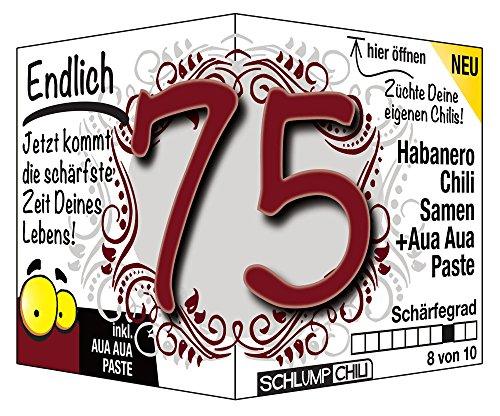 Endlich 75 - Eine tolle Geschenkidee zum 75. Geburtstag - ein witziges und originelles Geschenk (75. Geburtstag)
