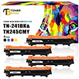Toner Bank 4 Pack Kompatibel für Brother TN-241 TN241 TN-245 TN 241 242 246 Toner für Brother MFC 9332CDW Brother HL 3142CW DCP-9022CDW HL-3152CDW Brother MFC 9142CDN MFC-9342CDW MFC-9332CDW HL-3142CW Toner Schwarz