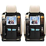 Opamoo ochraniacz na oparcie fotela samochodowego, 2 sztuki, Na tylne siedzenie samochodowe, Duże kieszenie, Schowek na iPad/