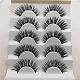 Kxnet 1 Box 5 Pair Luxury 3D Eye Lashes Fluffy Strip Eyelashes Long Soft Natural Fashion False Lashes
