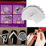 Demiawaking 12pcs Adesivi per Unghie Impermeabili Adesivi Francesi Adesivi Cerchio DIY Nail Art Strumenti Patch per Unghie
