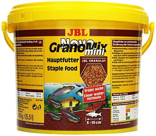 JBL NovoGranoMix 30111 Alleinfutter für kleine Aquarienfische Nachfülldose Granulat, 5,5 l