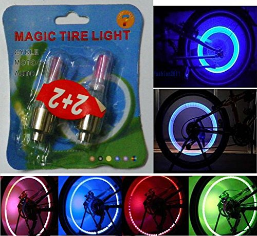 Decorative Bike/Car/Motorcycle Tire Valve Sealing Cap LED Wheel Light