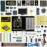 KEYESTUDIO Set/Kit für Arduino Projekt UNO Starter Kit mit LCD1602, Servo, Schrittmotor, Tutorial für UNO R3 Mikrocontroller Kit