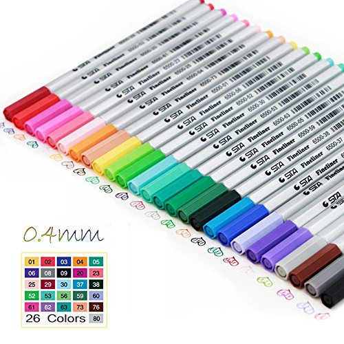 meeden-04mm-26-colors-needle-tip-markers-water-based-ink-color-pen-for-manga-drawing
