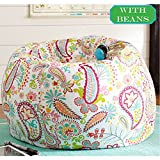 #3: Paislay design, cotton canvas comfort research HD designer bean bag xxxl with bean by Aart Store