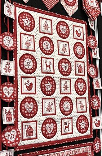 Makower Christmas Advent Bunting Fabric Panel Advent Calendar Bunting Scandi Christmas Craft Kit Mak664 Panel 60 Cm X 110 Cm By 100 Cotton Buy Online In Costa Rica At Desertcart