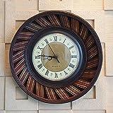 ZHDC® Orologio da parete americani in stile retrò a mano Bamboo Wall Clock Soggiorno Camera da letto Cafe pareti decorate orologi Home wall clock ( Colore : #2 )