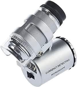 Kimilar Mini 60x Led Mikroskop Taschenmikroskop Lupe Mikroskop Für Juwelier Einstellbare Lupe Mit Uv Licht Bürobedarf Schreibwaren