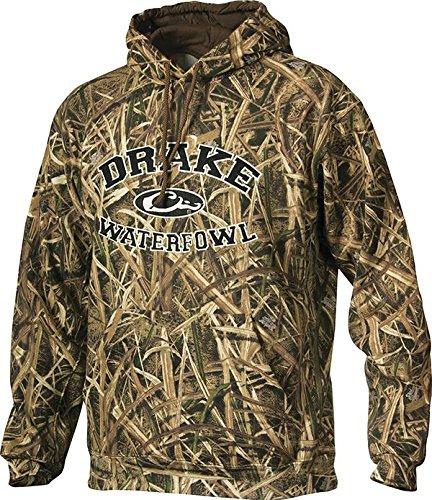 Drake Herren Jacke Logo Hooded Sweatshirt Mischgewebe Baumwolle Polyester (Drake Jagd Kleidung)