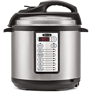Bella 6 Litre 12-in-1 Multi-Function Digital Electric Pressure Cooker (1000W) – Cooks Food 70% Faster Than Conventional Ovens – Multifunctional Slow Cooker, Rice Cooker, Steamer, Soup Maker, Stew