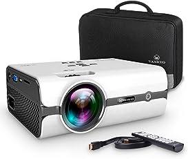 VANKYO Leisure 410 Mini Beamer LED Projektor 2500 Lumen, Heimkino Beamer Full HD 1080P unterstützt, Kompatibel mit Fire TV Stick HDMI VGA USB AV TF für Smartphone Laptop, weiß