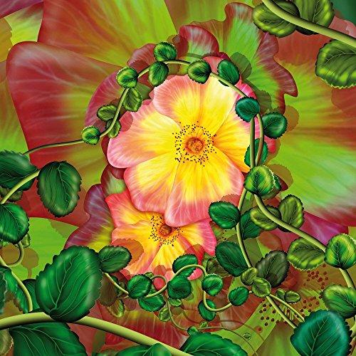 Apple iPhone 4 Housse Étui Silicone Coque Protection Fleur Fleur Fleurs CasDur anthracite clair