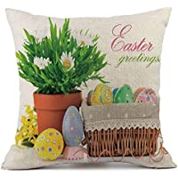 showsing-pillow Funda de Almohada de Pascua – Conejo conejitos con Huevos Funda de Almohada, sofá Cama hogar Festival decoración, Color A, tamaño Talla única