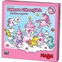 HABA-304539-Einhorn-Glitzerglck-Wolkenstapelei-kooperatives-Stapelspiel-mit-Einhrnern-und-Wolken-aus-Holz-Spiel-ab-4-Jahren