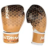 #4: Hitman By Triumph Force Printing Brown ( BX-24-4 ) PU Boxing Gloves