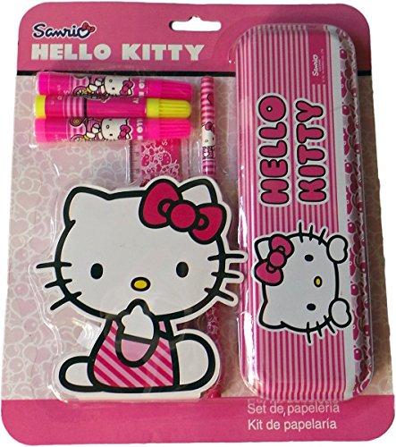 Hello Kitty - Kuschel mit Kitty in der Schule - Schreibset - 6 Teile - Kitty Teen Hello