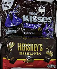 Hershey's Combo Gift Pack of 2 (Hershey's Nuggets Special Dark with Almonds 340g, Hershey's Kisses Special Dark 340g)