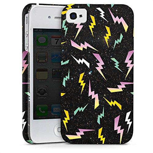 Apple iPhone X Silikon Hülle Case Schutzhülle Bolt Pattern Muster Blitz Premium Case glänzend