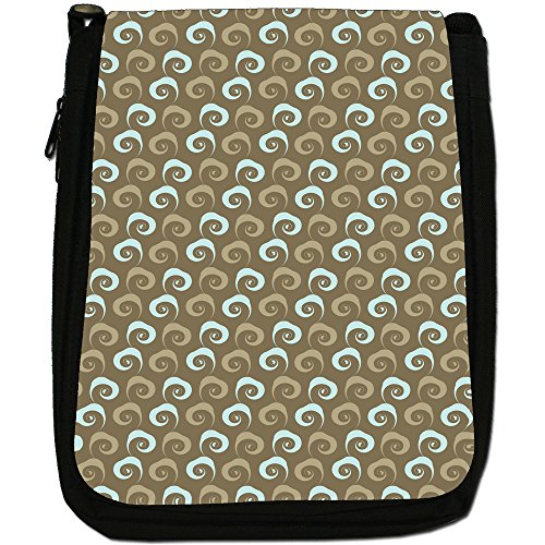 Fancy A Snuggle, Borsa a spalla donna Blue & Khaki Smoke Swirls