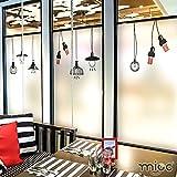 HL-PYL - Die elektrostatische Folie Tee Shop Fenster Partition Schiebetür Fenster aus Glas, Aufkleber Anti Privatsphäre Beschattung Fenster Dekoration, Schrubben, 80 cm * 120 cm,